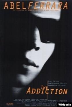 پوستر فیلم «اعتیاد» ساخته آبل فرارا. آنتونی بلینکن دستیار تهیه این فیلم بود.