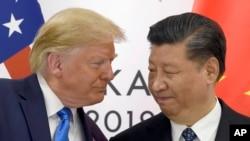 Tổng thống Trump và Chủ tịch Tập trong một cuộc tiếp xúc.