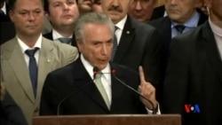 2016-05-13 美國之音視頻新聞: 巴西臨時總統誓言要帶領國家復甦