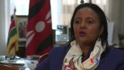Vincent Makori wa VOA akimhoji Waziri wa Mambo ya Nje wa Kenya, Amina Mohammed