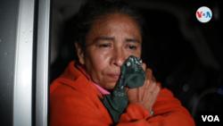 Martha Lorena Baldizón Sánchez perdió a varios familiares por el deslave en Macizo Peñas Blancas. Foto Houston Castillo, VOA.