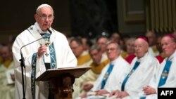 Papa Franja tokom današnje službe u Filadelfiji