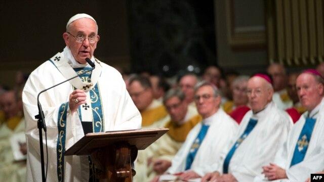 Giáo hoàng Phanxicô tại Philadelphia, Pennsylvania ngày 26/9/2015.