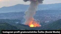 """Eksplozija u fabrici namenske industrije """"Sloboda"""" u Čačku, 19. juna 2021. (Foto: Instagram profil gradonačelnika Čačka)"""