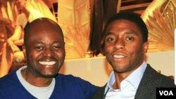 Roger Muntu and Chadwick Boseman