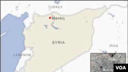 Thị trấn Manbij nằm gần biên giới với Thổ Nhĩ Kỳ