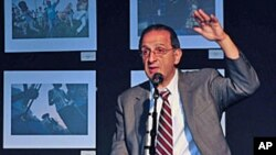 James Zogby speaking on American perceptions of the Arab world and his book on the subject at a gathering in Washington, DC, May 10, 2011