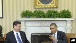 Prezida Barack Obama n'icegera ca Prezida W'Ubushinwa, Xi Jingping