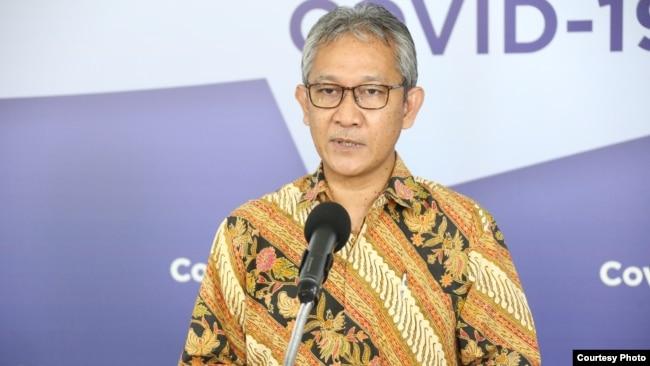 Dirjen Anggaran Kementerian Keuangan Askolani saat konferensi pers di Graha BNPB, Jakarta, Jumat (15/5). Foto: BNPB