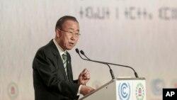 Sekjen PBB Ban Ki-moon di Marrakech, Moroko, 15 November 2016 (Foto: dok).