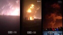 天津爆炸中失踪消防员家属举行抗议