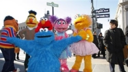 """Cookie Monster and friends from """"Sesame Street Live"""" in New York last February to celebrate the 30th anniversary of the touring stage shows"""