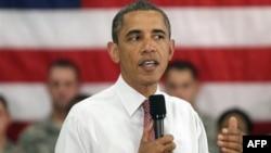 Fort Drum üssünde askerlere hitap eden Başkan Obama