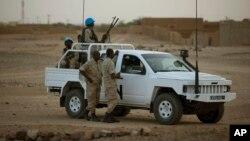 Pasukan perdamaian PBB melakukan patroli di Kidal, Mali (foto: dok).