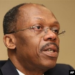 Former Haitian President Jean-Bertrand Aristide during a press conference in Johannesburg, South Africa (file)