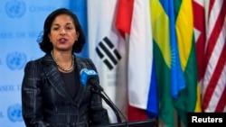 美国驻联合国大使苏珊.赖斯(资料照片)