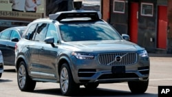 UBER SELF DRIVING VOLVO