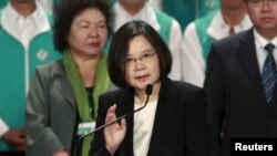 Bà Thái Anh Văn, ứng viên tổng thống của đảng Dân Tiến, đang dẫn đầu khá xa trong các cuộc thăm dò giữa lúc chỉ còn vài ngày nữa là tới ngày bầu cử.