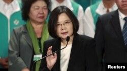 台湾民进党主席蔡英文(2015年9月19日 资料照片)