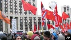 去年12月24日的莫斯科反政府集會