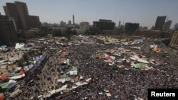 A general view of Tahrir square as supporters of Muslim Brotherhood's president-elect Mohamed Morsi gather in Cairo, June 29, 2012.