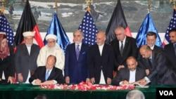 محفل امضای سند امنیتی میان افغانستان و امریکا در ارگ ریاست جمهوری