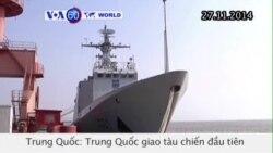 Trung Quốc giao tàu chiến tự đóng (VOA60)
