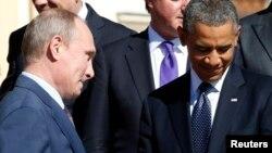Владимир Путин и Барак Обама. Санкт-Петербург. Россия. 6 сентября 2013 г.