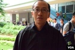 香港大學新聞及傳媒研究中心副教授傅景華。(美國之音湯惠芸攝)