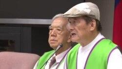 蔡明宪称联合国对台湾不公原声视频 (美国之音黎堡摄)
