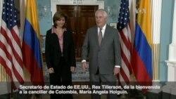 Secretario Tillerson se reúne con canciller de Colombia