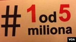 """Protesti u Beogradu ove zime pod nazivom """"Jedan od pet miliona"""", Foto: Glas Amerike"""