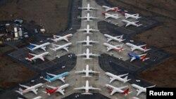 Indege za Boeing 737 MAX i Moses Lake, muri reta ya Washington. Isanamu Yafashwe kw'italiki ya 17/11/2020