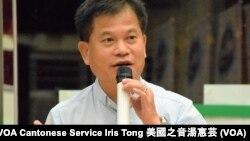 前香港立法局議員馮智活 (攝影:美國之音湯惠芸)