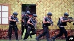 印尼警方加強反恐