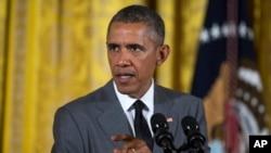 """Presiden AS Barack Obama mengatakan bahwa politik Israel """"hanya didorong oleh ketakutan."""""""