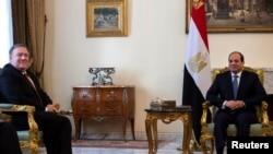 El secretario de Estado de EE.UU., Mike Pompeo, reiteró el jueves 10 de enero de 2019 en Egipto que su país retirará las tropas de Siria.