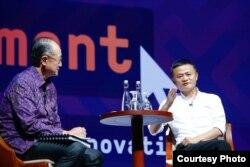 Jack Ma mengaku sudah terlalu tua untuk berbisnis dan memilih mengajar anak muda berwirausaha. (Foto courtesy: Bank Dunia)