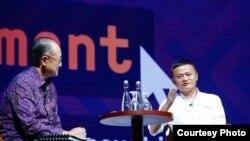 Jack Ma saat menjadi pembicara di sela Pertemuan Tahunan IMF-Bank Dunia 2018, Nusa Dua, Bali, Jumat (12/10). (Foto: Bank Dunia)