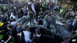 Mesto napada u južnom delu Bejruta