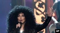 Cher durante los premios Billboard 2017.