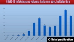 Koronavirusa həftələr üzrə yoluxanların statistikası