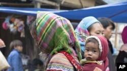 Người sắc tộc Hmong ở vùng cao nguyên tây bắc Việt Nam