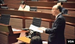 香港運輸及房屋局局長陳帆。(美國之音湯惠芸攝)