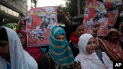 Perempuan pekerja di Pakistan dalam aksi demonstrasi memperingati Hari Perempuan Internasional di Pakistan. (Foto:dok)