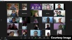 MAFINDO mengadakan Pelatihan Perempuan Periksa Fakta pada 22 Januari 2021. (Courtesy: MAFINDO)
