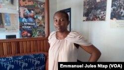 Alice Priso, secrétaire permanente adjoint de l'Acdic, a coordonné les enquêtes sur le monnayage des recrutements à Yaoundé, au Cameroun, le 21 septembre 2017. (VOA/Emmanuel Jules Ntap)