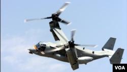 日美聯合軍演動用魚鷹運輸機(美國國防部網頁截圖)