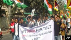 Delhi college students carry out Tibet solidarity march