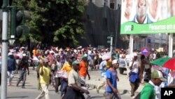 Manifestação da UNITA em Benguela, a 19 de Maio (VOA)